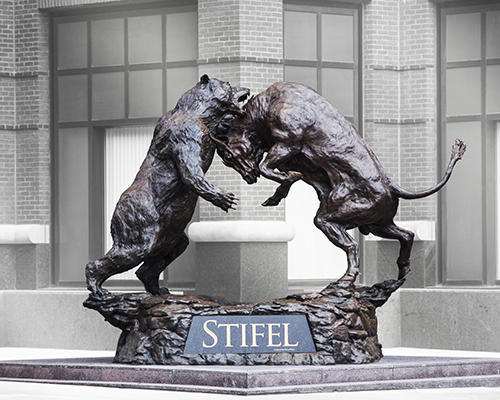 Stifel Forces Statue in St. Louis, Missouri, Bull & Bear Statue