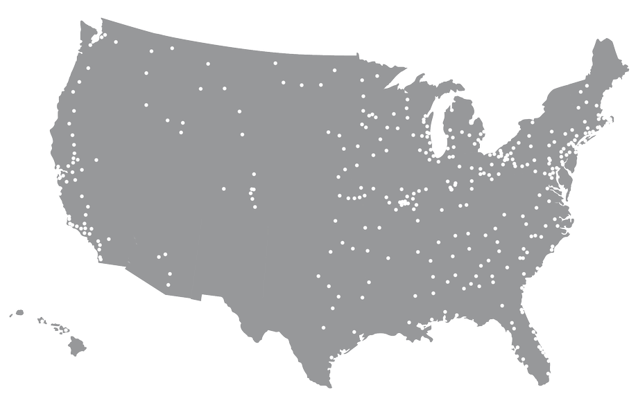 Map of Stifel offices in the United States